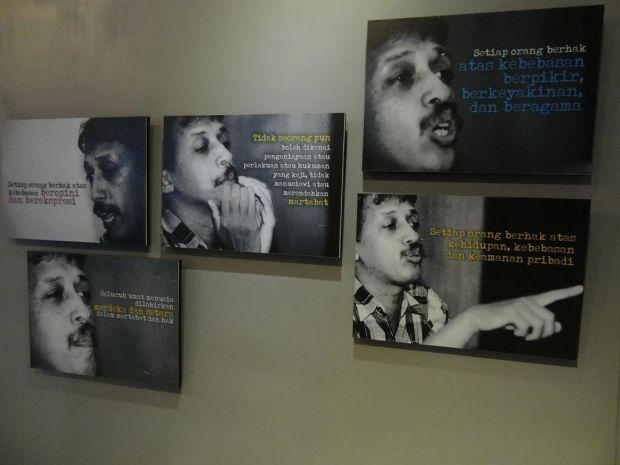 Images of Munir from the Munir Museum