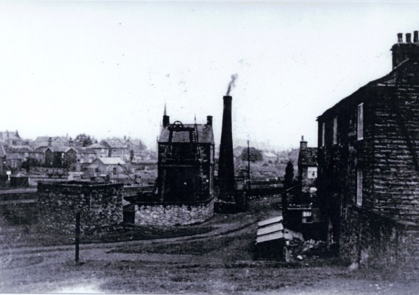 The site of Elsecar New Colliery, in operation 1795-1850s, photographed c. 1905. Its Newcomen Beam Engine, of which this is the oldest photograph, continued to pump water from the South Yorkshire coalfield until 1923. (© Barnsley MBC)