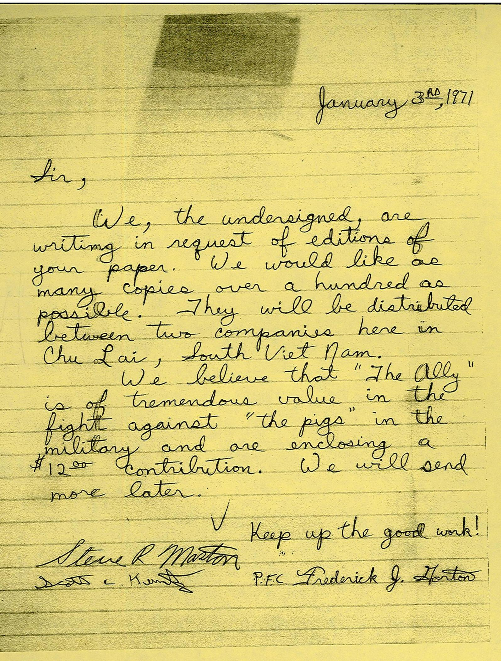 letters of soldier dissent from the vietnam war  u2013 history