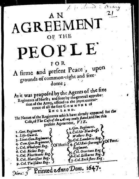 Radical Books An Agreement Of The People 1647 History Workshop