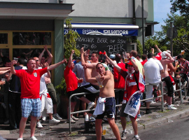 England fans at the World Cup in Germany, 2006. Picture credit: Wikimedia Commons