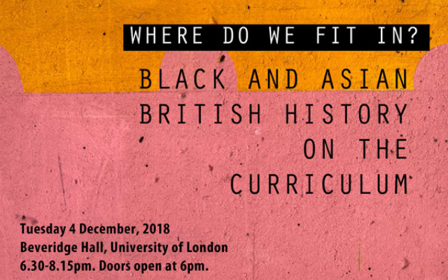 Event: 'Where do we fit in?' Black and Asian British History on the Curriculum