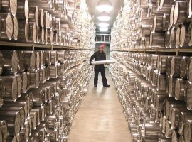Archives of the Anthroprocene? The storage area at the National Ice Core Laboratory in Denver, United States of America, wikipedia commons.