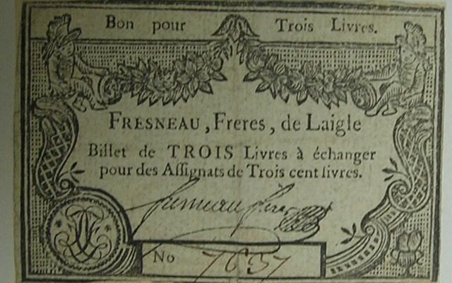Billet de confiance, Fresneau-Orne