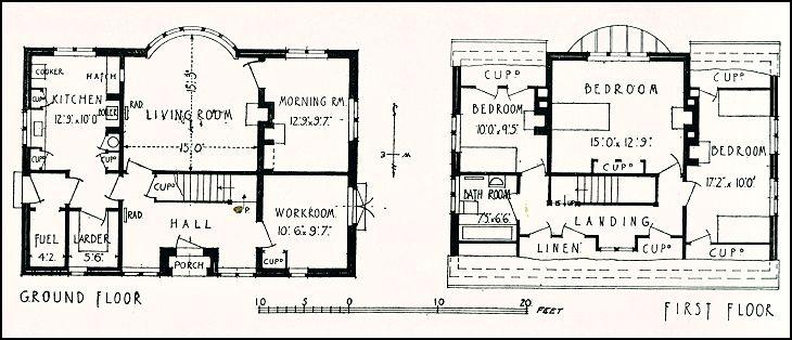 1930's Housing, House at Sands, Near Farnham, Surrey