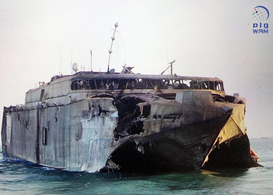 HVS-2 Swift hit by ASCM off Yeman