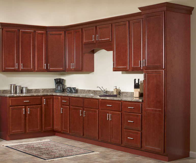 kitchen cabinet set how to build a island package deals jsi s bristol collection cherry one wall