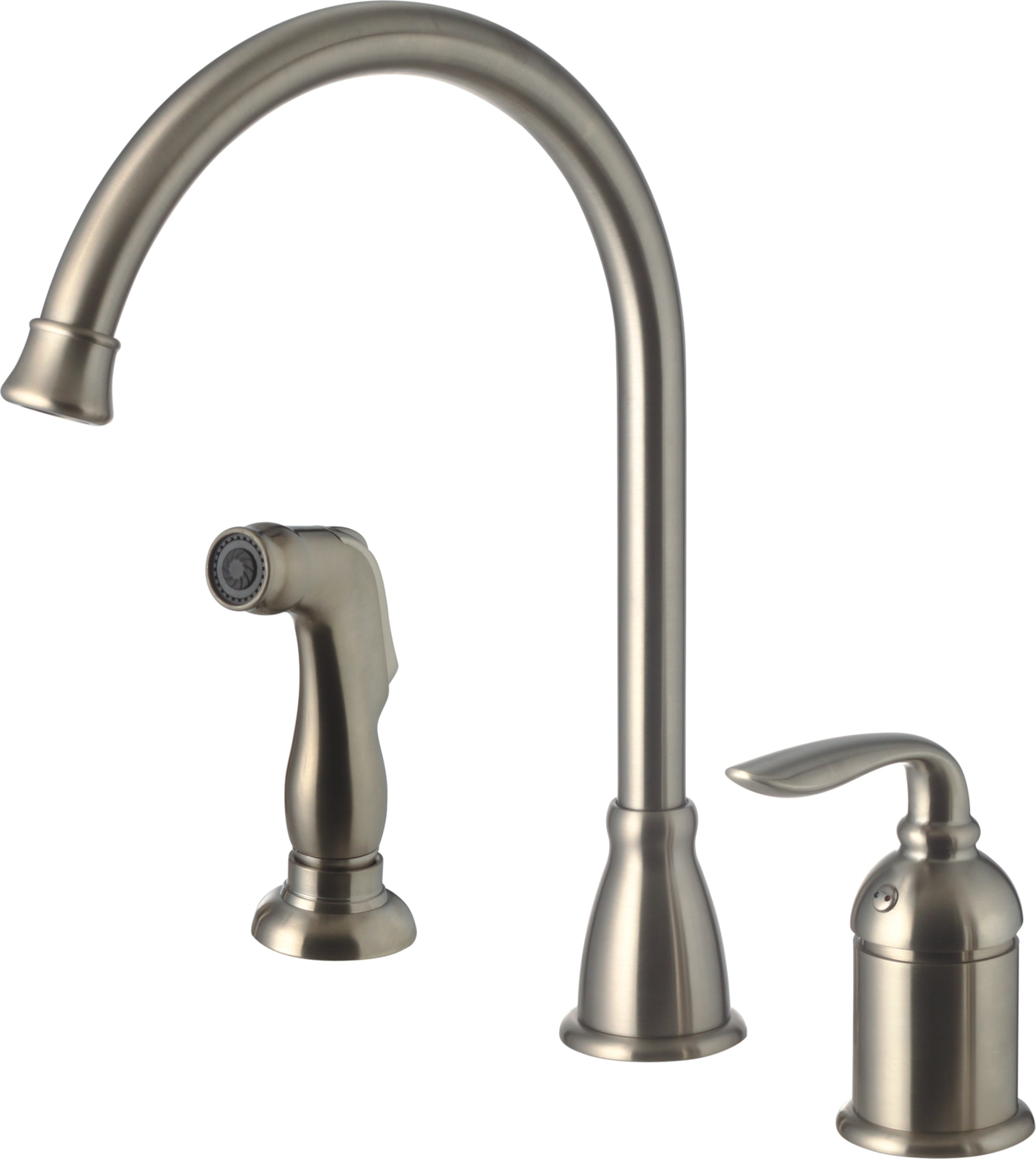 kitchen faucet with side spray rug for single handle brushed