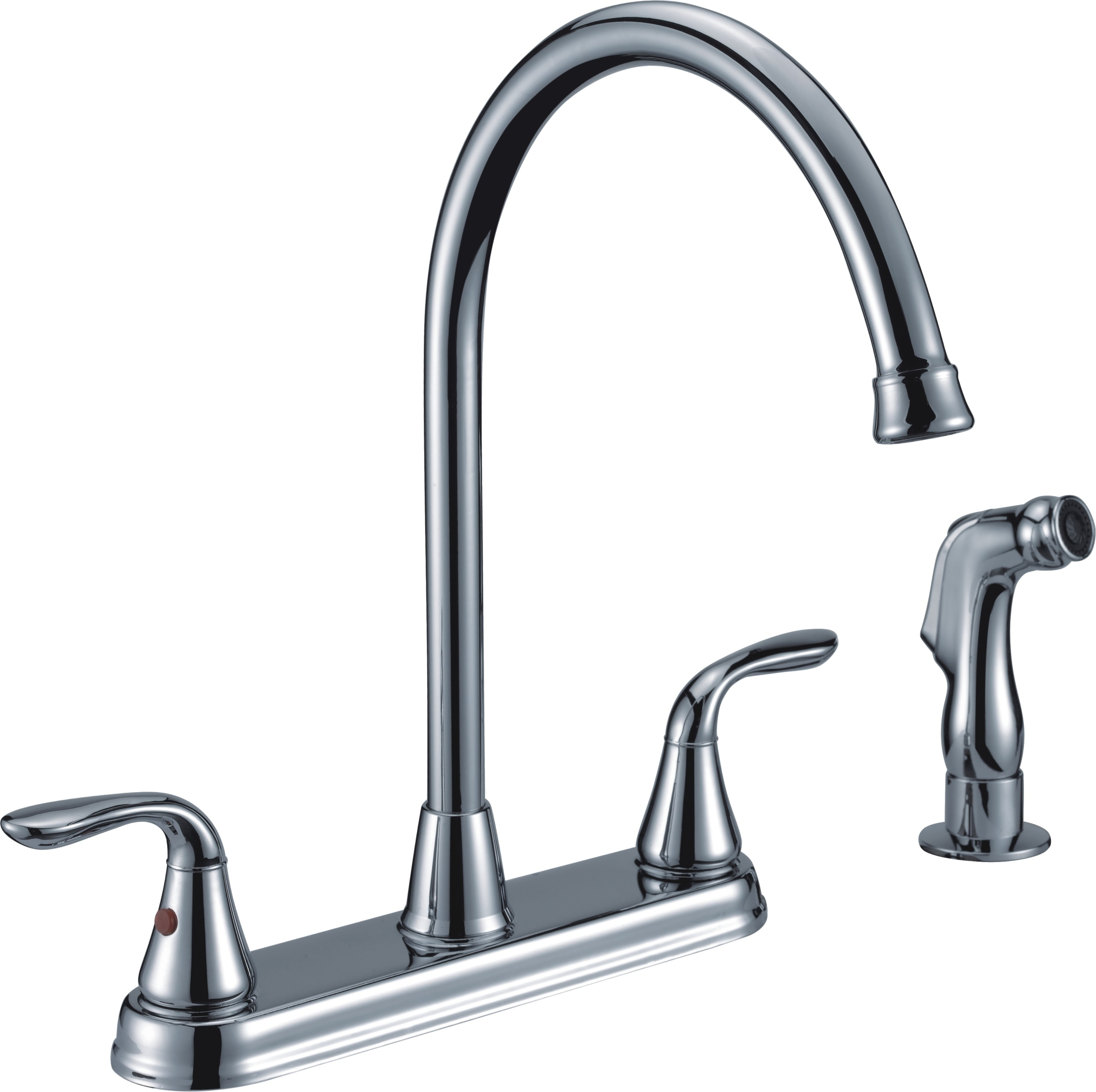 kitchen faucet with side sprayer design for a small space two handle high arc spray