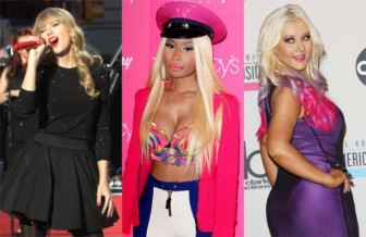 Nicki Minaj, Taylor Swift, Christina Aguilera