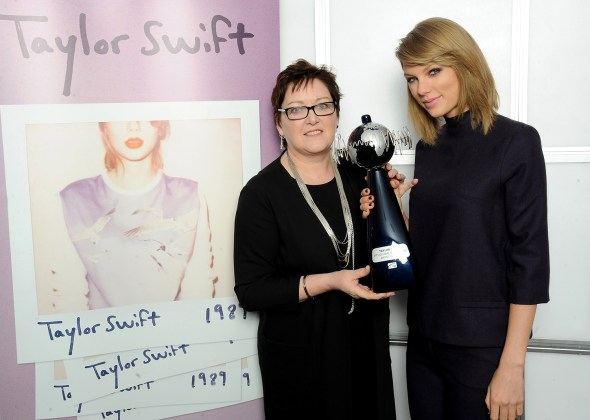 Taylor Swift Is Presented IFPI Global Recording Artist Of 2014 Award