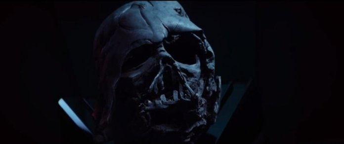 darth vader mask destroyed