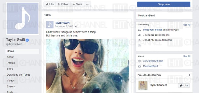 Taylor Swift - blank Facebook - Hit Channel