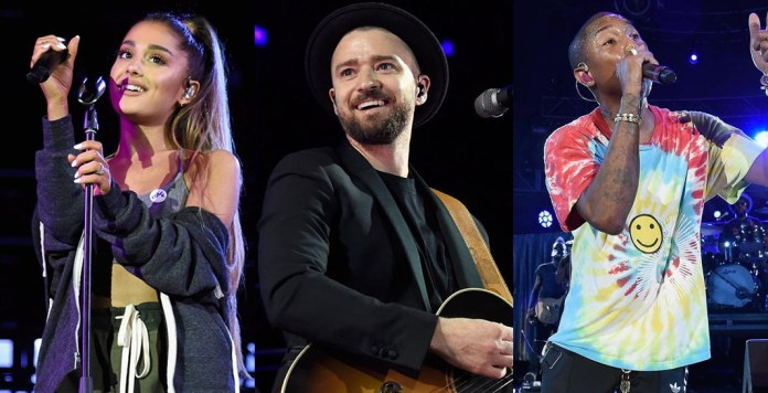 Ariana Grande - Justin Timberlake - Pharrell Williams - A Concert for Charlottesville - Hit Channel