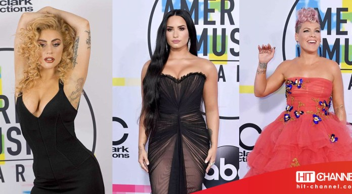LADY GAGA - DEMI LOVATO - PINK P!NK - RED CARPET - AMERICAN MUSIC AWARDS - AMAs 2017 - Hit Channel