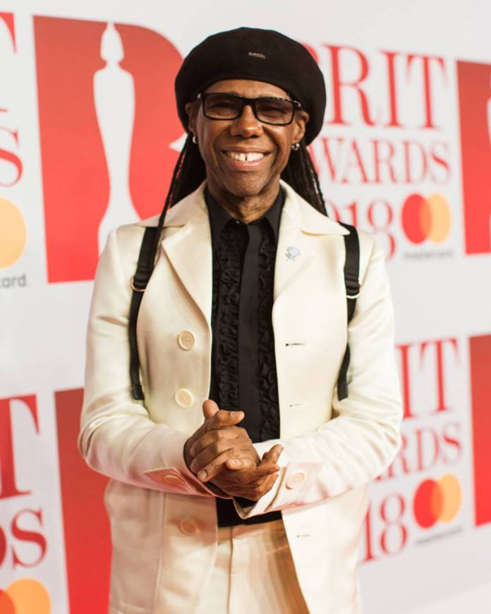 Nile Rodgers - red carpet - BRIT Awards 2018 - Hit Channel