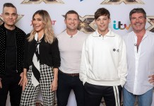 The X Factor UK - Robbie Williams - Ayda Field - Dermot O'Leary - Louis Tomlinson - Simon Cowell - Hit Channel