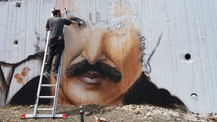 Νίκος Ξυλούρης - γκράφιτι - Ανώγεια - Hit Channel