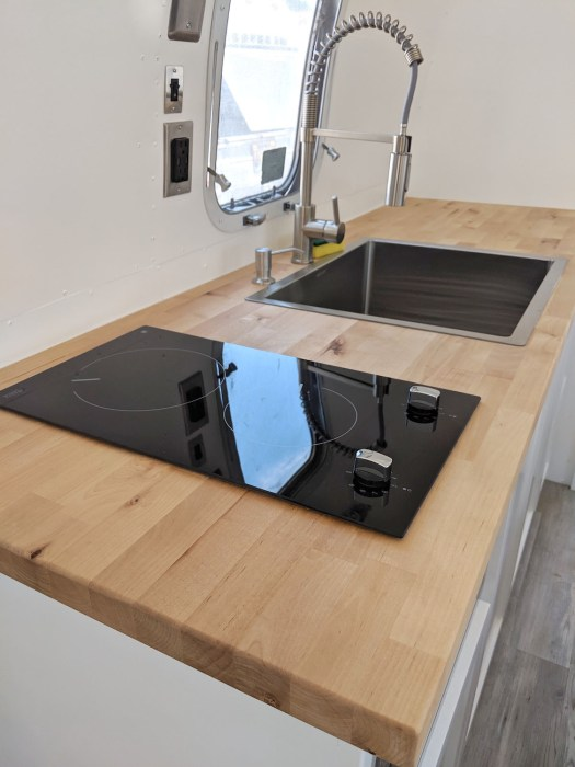 Airstream Stove and Sink