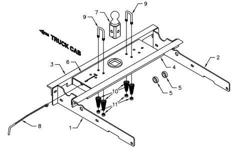 B&W Turnoverball Gooseneck 80-96 Ford 1/2 ton Complete Kit
