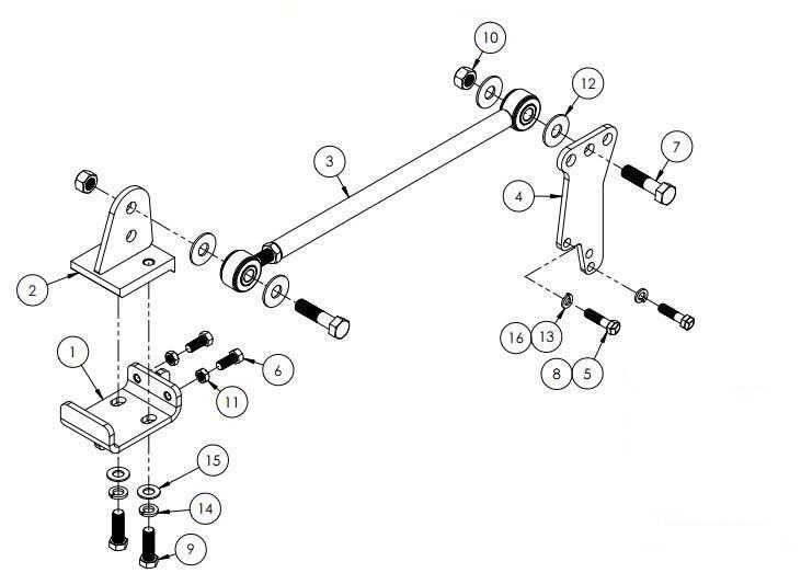 Blue Ox Trac Bar Rear-Axle Stabilizer F53 through 2015