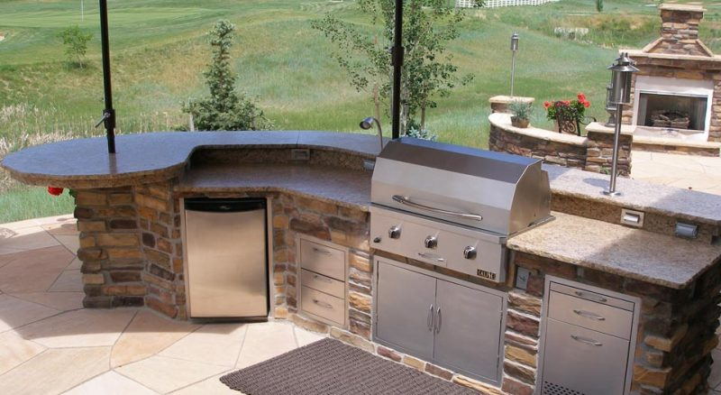 how to make an outdoor kitchen cabinets black create the ultimate hi tech appliance