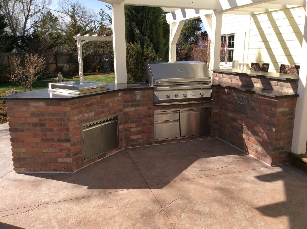 Brick Outdoor Kitchen Island in Superior Co  HiTech