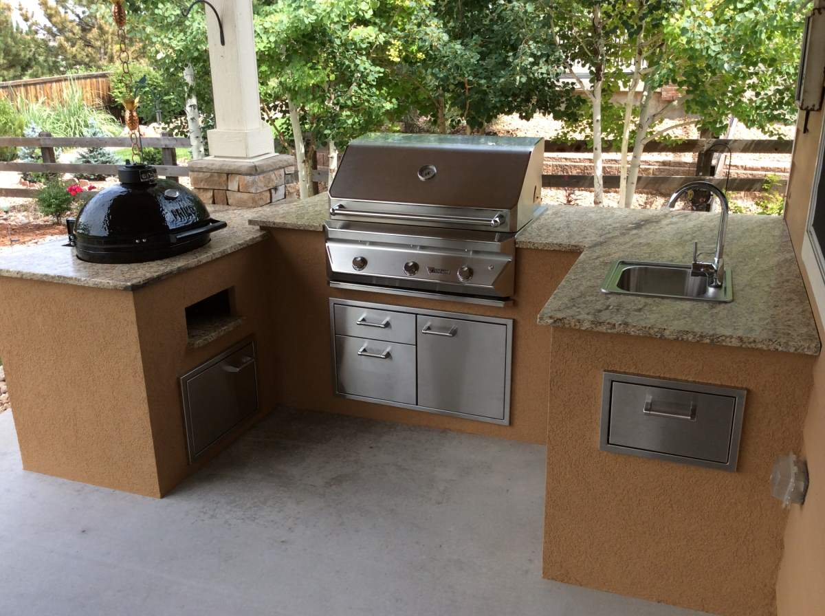 custom outdoor kitchens the best kitchen countertop material with pimo smoker grill  hi tech