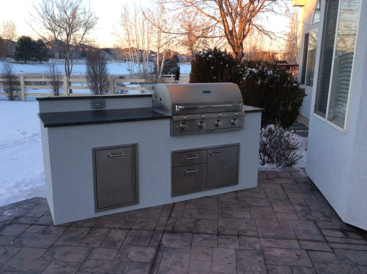 custom outdoor kitchens kitchen roof matches the house  hi tech appliance