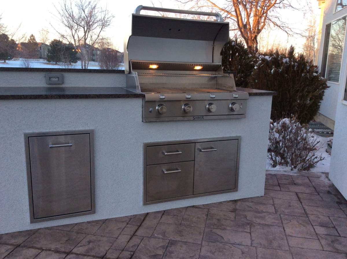 custom outdoor kitchens kitchen sink capacity matches the house  hi tech appliance