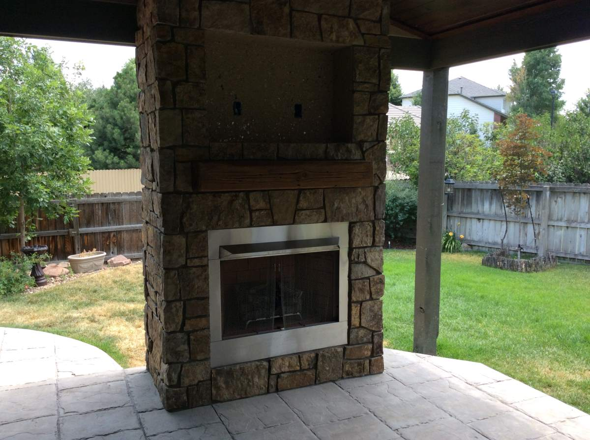 Outdoor Gas Fireplace In Superior Co Hi Tech Appliance