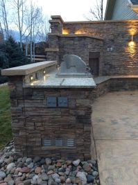 Outdoor Kitchen and Fireplace in Lafayette, Co  Hi-Tech ...