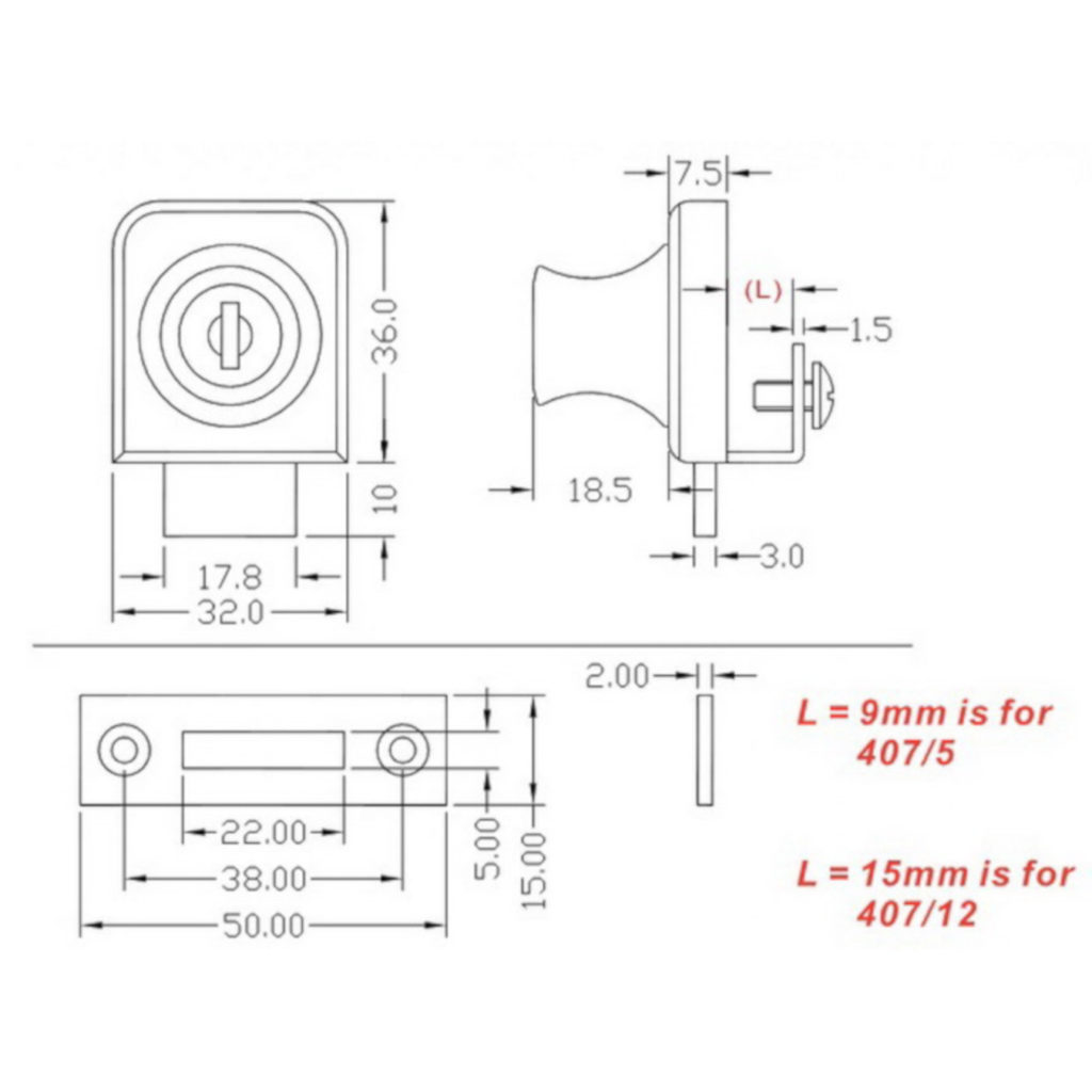 Single Door Glass Cabinet Lock
