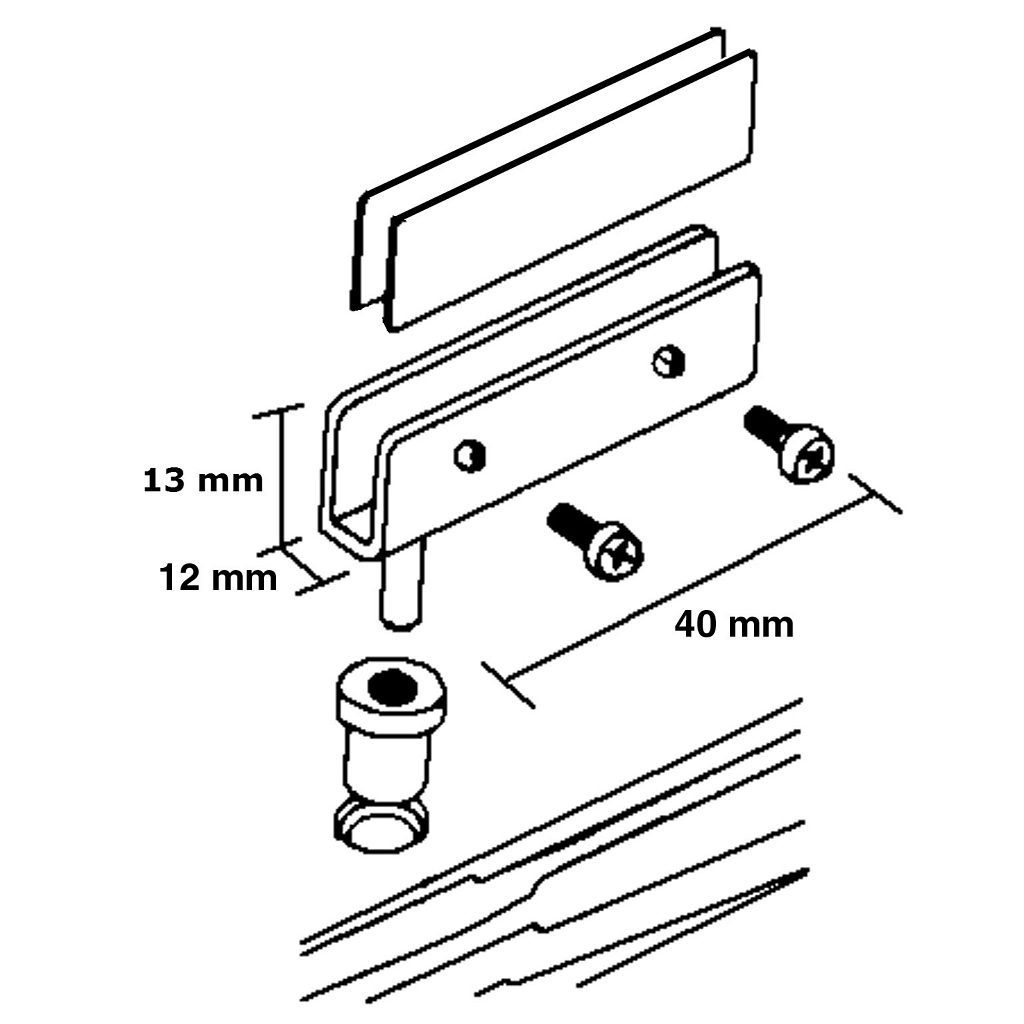 Pivot Hinge For Glass Door Recessed Within Furniture Or