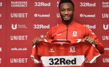 It's Official, Middlesbrough Unveil Mikel Obi As Their Latest Signing (Photos)