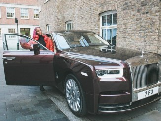 [PHOTOS] DJ Cuppy Takes Possession Of Her New Rolls Royce