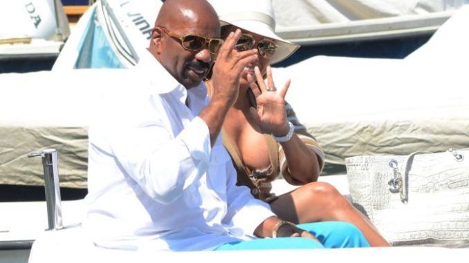 Steve Harvey's Wife Marjorie bought him a new Rolls Royce for Christmas. Last week Marjorie Harvey revealed that husband Steve Harvey bought her a brand new $350,000 Ferrari 488 Spyder. Well the elegant beauty one upped her husband, and bought him a brand new Rolls Royce Phantom – retail price $500,000. Marjorie and Steve have been married for 11 years. The two met when Steve was at a low point in his career. And since meeting Marjorie their fortunes turned. The couple is now worth more than $100 million, and Steve is one of the most recognized people in the world. Steve makes sure to thank his wife, and God for all his recent good fortune. And Marjorie thanks Steve too. On Christmas she gave her hubby 500,000 thank you's. Here are pics of Marjorie and Steve in his new present, custom fit with the Starlight headliner roof: And here's Marjorie's gift from Steve.