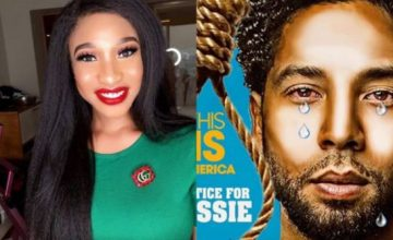 Tonto Dikeh Shows Support For Jussie Smollett Following Homophobic Attack