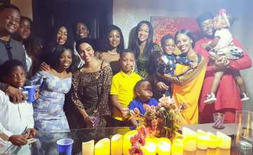 [PHOTOS] Toolz And Tunde Demuren Hold Dedication Party For Their Son
