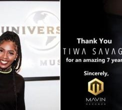 Tiwa Savage Departs Mavin Records After 7 years