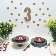 3歳の誕生日会のケーキテーブル