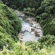京都の保津峡展望台