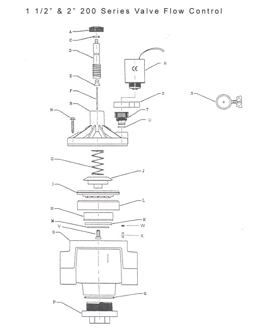 small resolution of valve assembly drawings 100 series 1 inch flow control