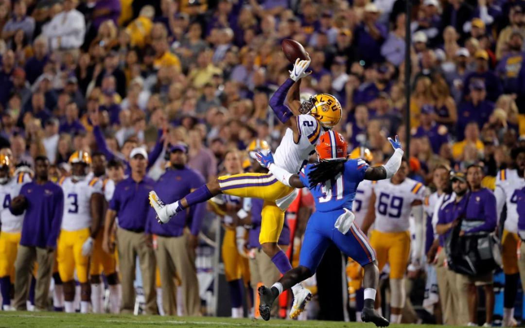 No. 5 LSU takes over late to down No. 7 Florida, 42-28