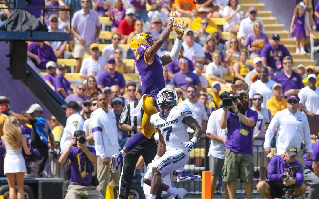 LSU's defense matches dominant offense in 42-6 win over Utah State