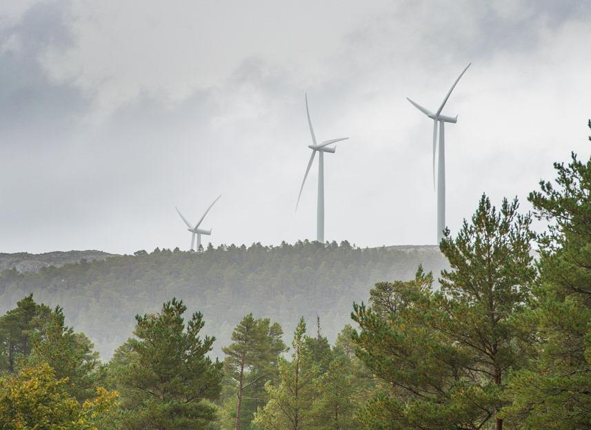 Vindmøller Eldsfjellet (Foto: Stein Olav Sivertsen)