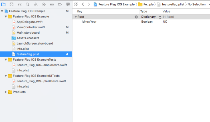 Feature flag in iOS plist
