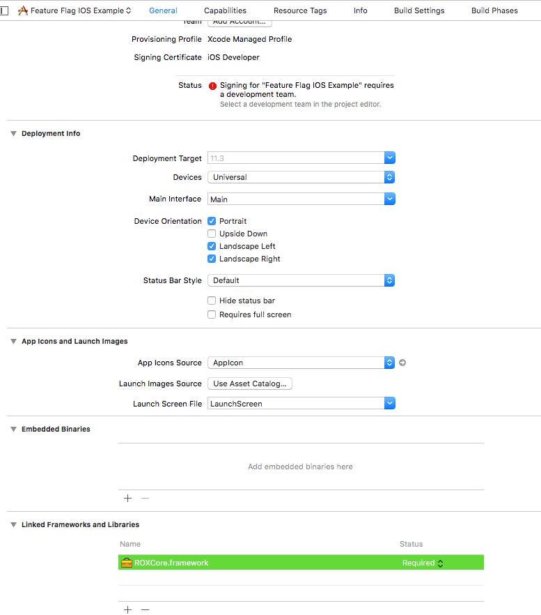 Xcode linked frameworks