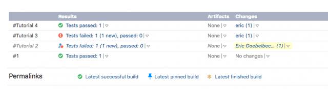 TeamCity Build List