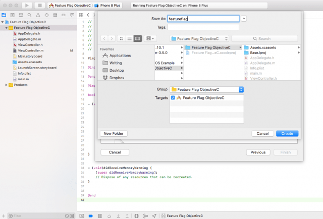 feature toggle objective-c name property list